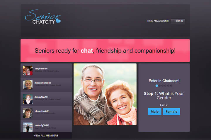 Good senior chat site
