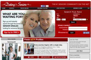 Dating For Seniors homepage