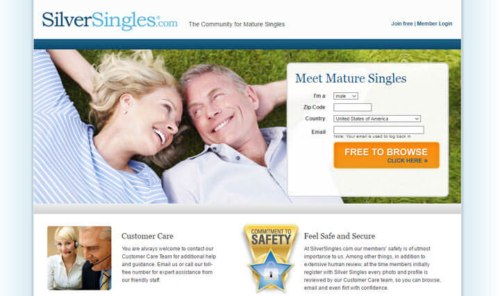 Dating site for 45 and older
