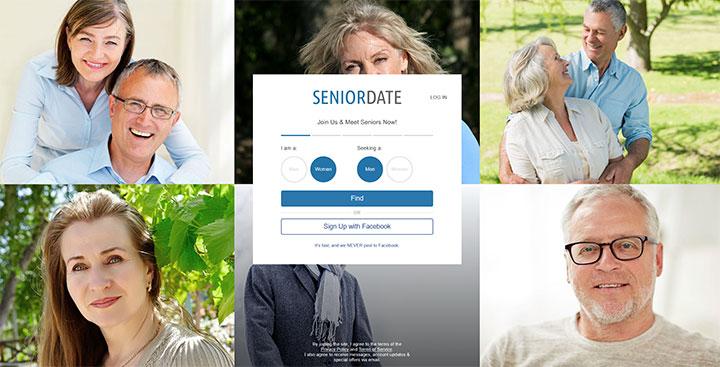 Senior Date printscreen homepage
