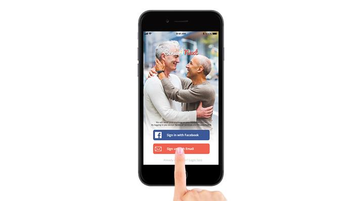 Gay Senior Next smart phone app