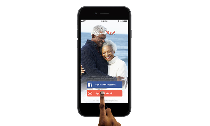 Black Senior Next smart phone app
